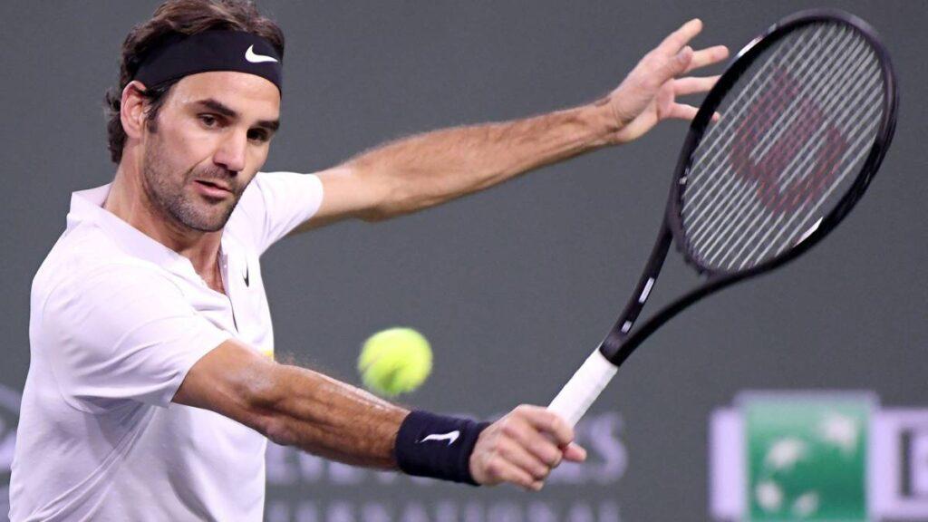 Roger Federer en un partido de Tenis